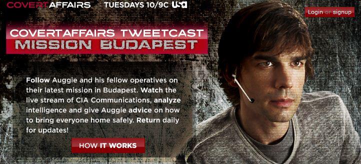La serie televisiva Covert Affairs lancia una stagione su Twitter